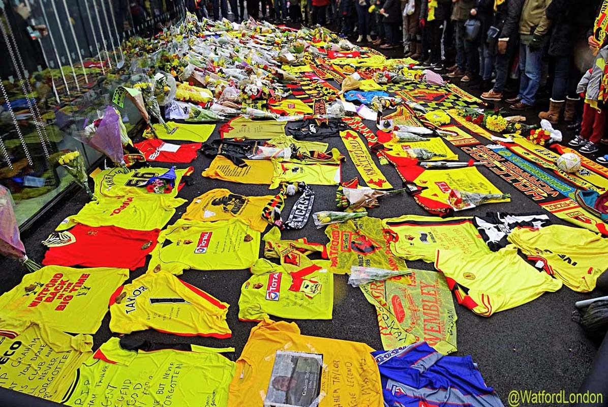 news/watfordfc Fans Pay Tributes TO Graham Taylor at Vicarage Road Football Stadium