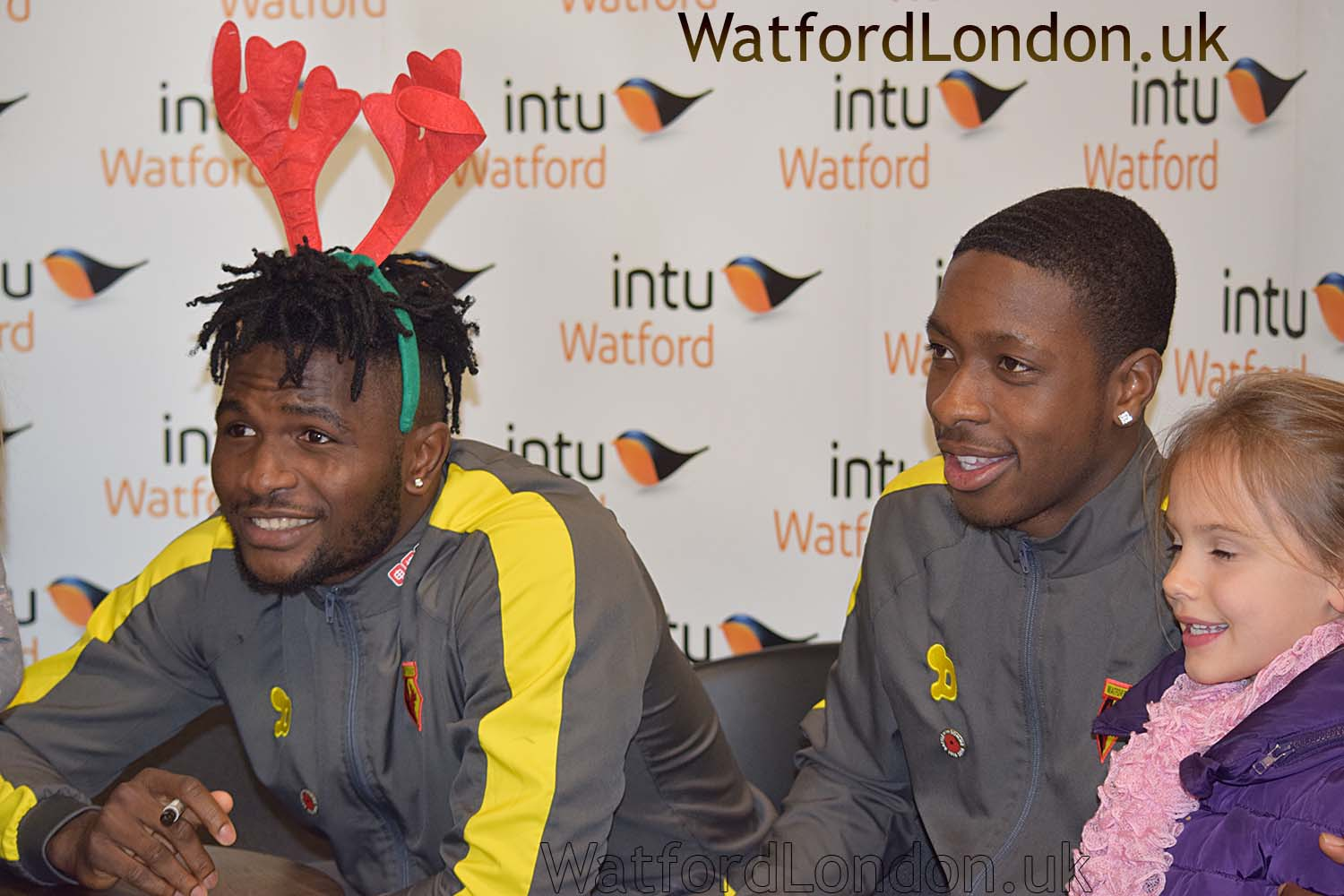 Watford FC autographed fans items plus free signed posters at the 2016 Christmas Lights on event