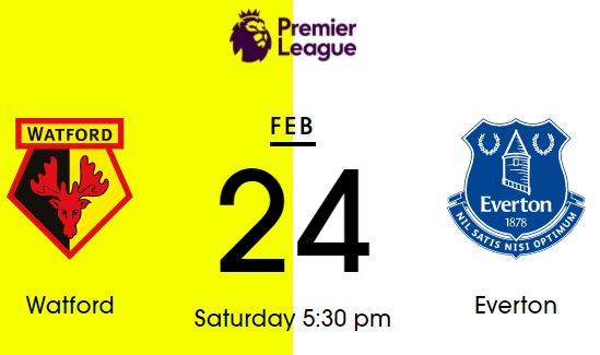 Watford - Everton 24 February 2018
