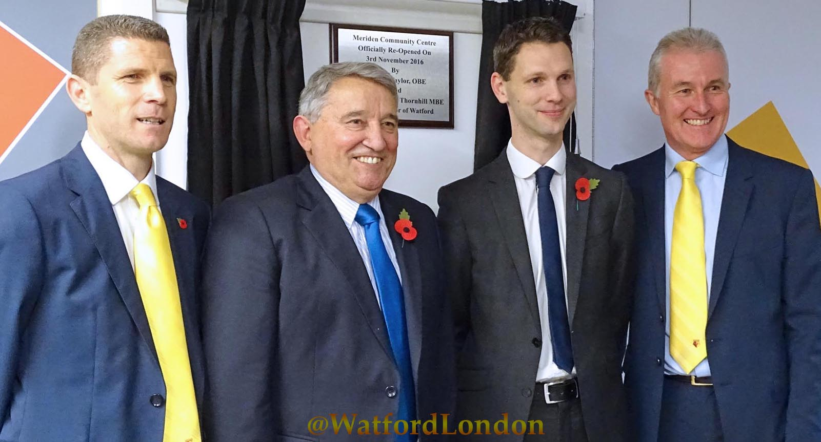 Ex England & Watford FC Manager Graham Taylor and Watford FC stars officially Opens revamped Community Centre 2016