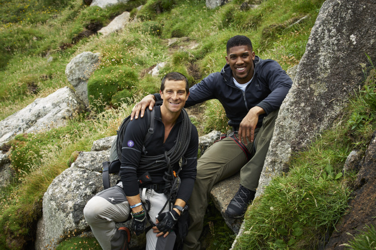 Anthony Joshua gets taken into the wilderness with Bear Grylls