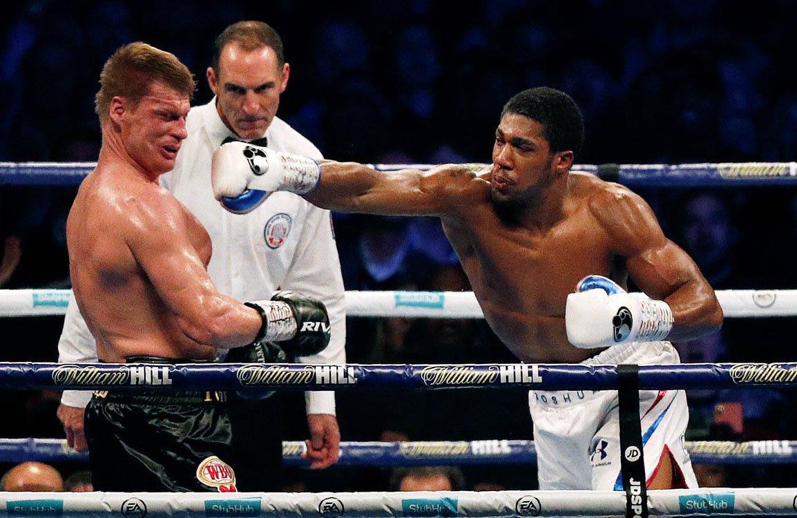 Anthony Joshua wins and beats Povetkin in seventh round