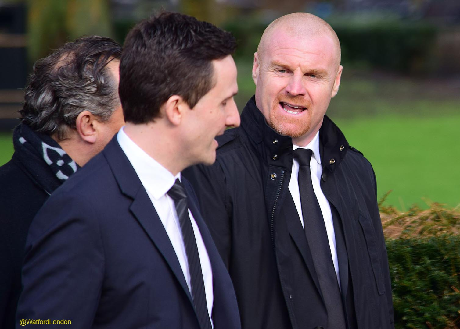 Sky Sports presenter Adam Leventhal with Burnley manager Sean Dyche