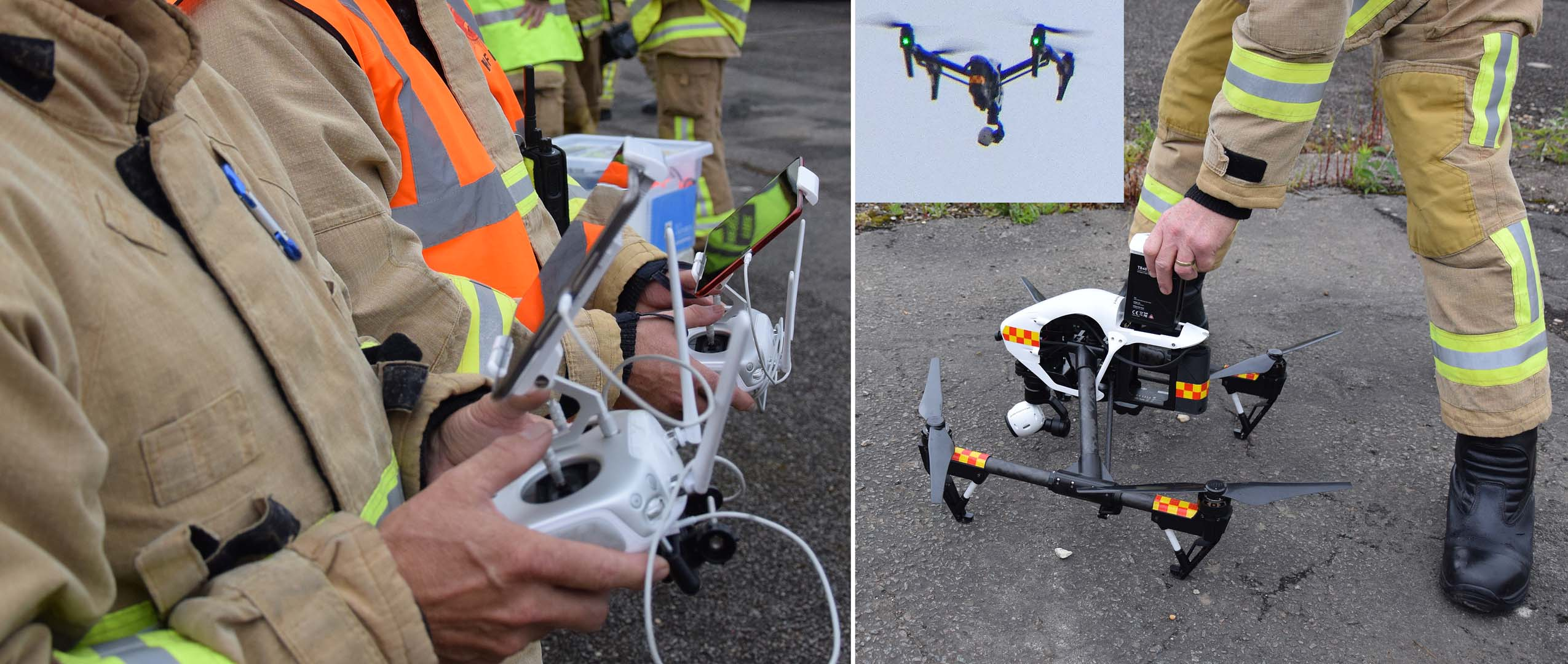 Herts Fire Crew using Drones latest technology to Aid Emergency Services